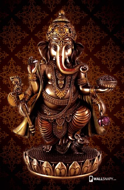 Lord ganesh gold statue hd wallpaper