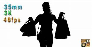 Silhouette Of Woman Holding Shopping Bags by nyc_media ...