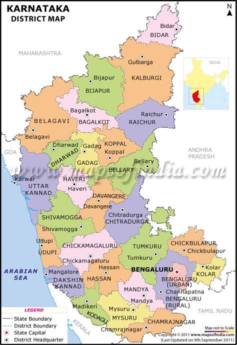 karnataka district map district map  karnataka