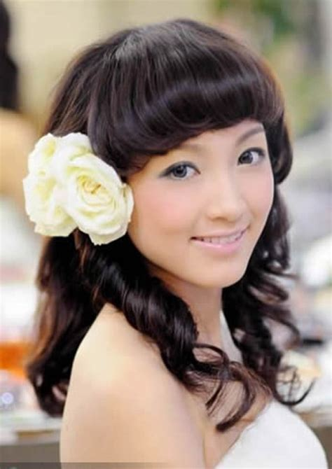 long wedding hairstyles with flowers cherry marry