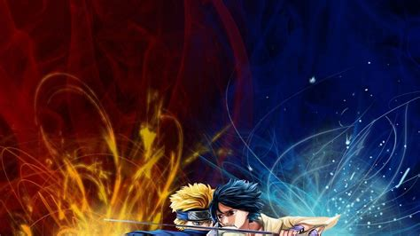 batalla entre naruto  sasuke  fondos de