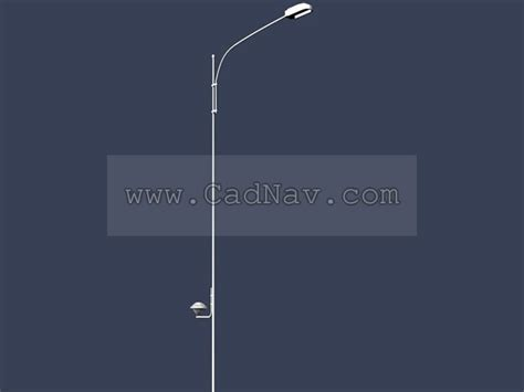 Single arm street lamp post 3d model 3Ds Max files free
