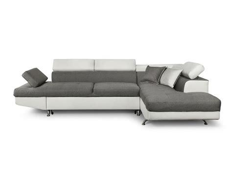canapé blanc tissu canapé d 39 angle en simili cuir et tissu droit blanc gris