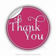 "Round Stickers Thank You 3"" In Diameter Round Sticker"