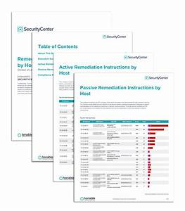 Remediation instructions by host report sc report for Security remediation plan template