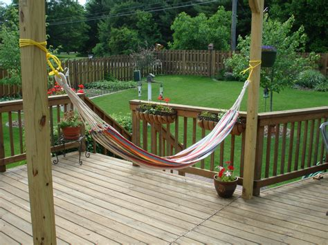 Hammock Posts Diy by 15 New Diy Patio Furniture And Decoration Ideas