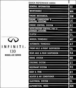 1999 Infiniti I30 Repair Shop Manual Original
