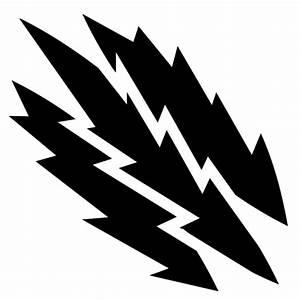Lightning slashes icon   Game-icons.net