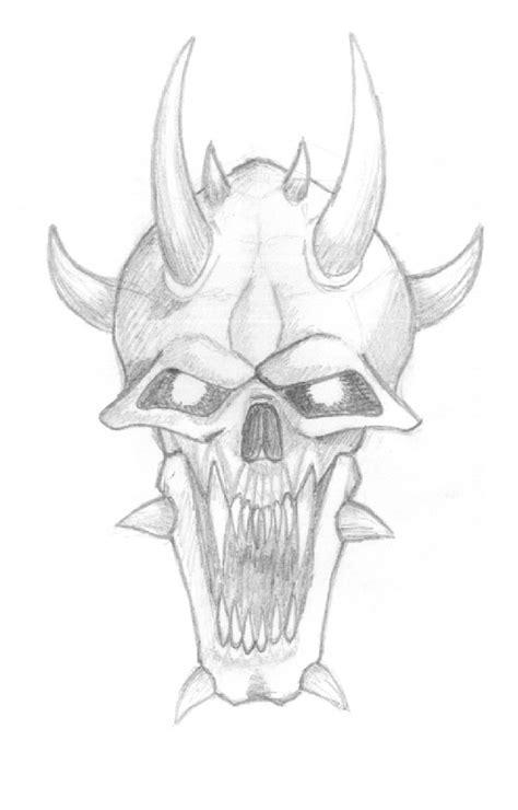 demon skull sketch  winterwerewolf  deviantart