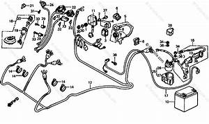 Honda Atv 1985 Oem Parts Diagram For Wire Harness