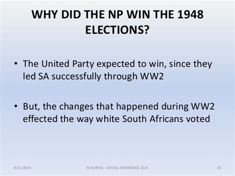 Turning Points In Modern South African History