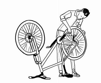 Service Bike Kit Conversion Sketch Repairs Wheels