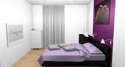 chambre violet et noir chambre blanc gris et