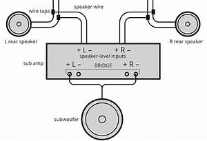 Diagram  How To Wire A 4 Channel Amp To 4 Speakers And A