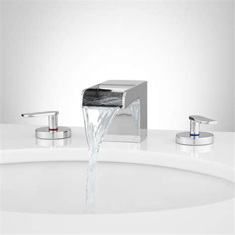 waterfall tub faucet willis widespread waterfall faucet bathroom