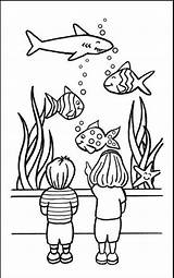 Coloring Aquarium Fish Popular sketch template