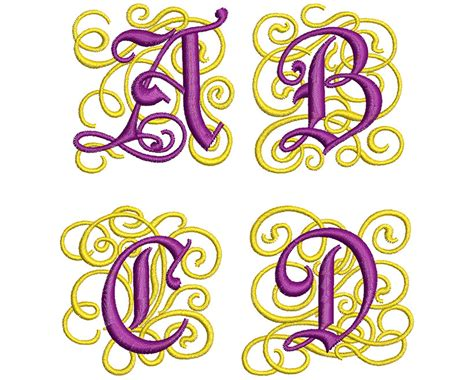 ornate monogram mm font  wilcomembroideryfontscom