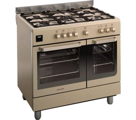 hoover ivory and stainless steel 90cm dual fuel range cooker for sale in huddersfield west