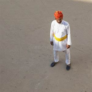 Man With Traditional Clothing In The Desert Of Rajasthan ...