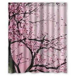 pretty cherry blossom shower curtain