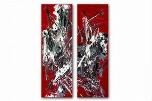 diptyque abstrait rouge format portrait grand format,tableaux modernes dyptyque rouge vertical