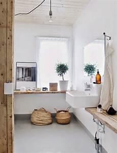 Salle De Bain Blanche Et Bois : salle de bain blanche et bois picslovin ~ Preciouscoupons.com Idées de Décoration