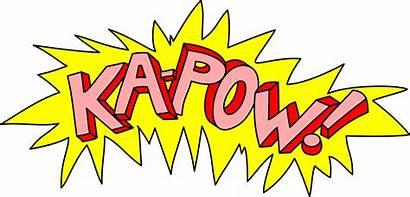 Pow Kapow Comic Clipart Explosion Batman Ka