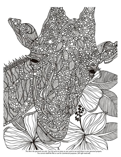 giraffe coloring pages  adults