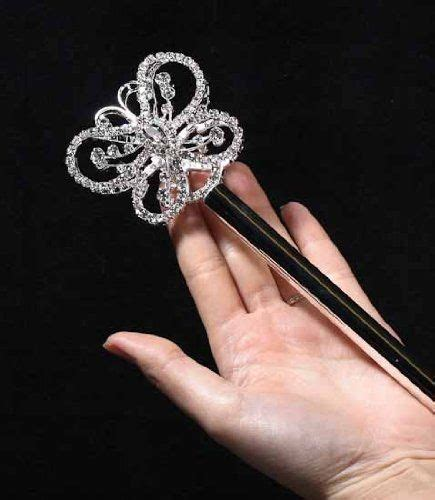large rhinestone silver shiny quinceanera silver and sparkly butterfly rhinestones scepter or wand