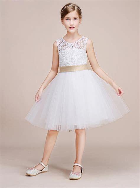 white junior bridesmaid dressesshort flower girl dress