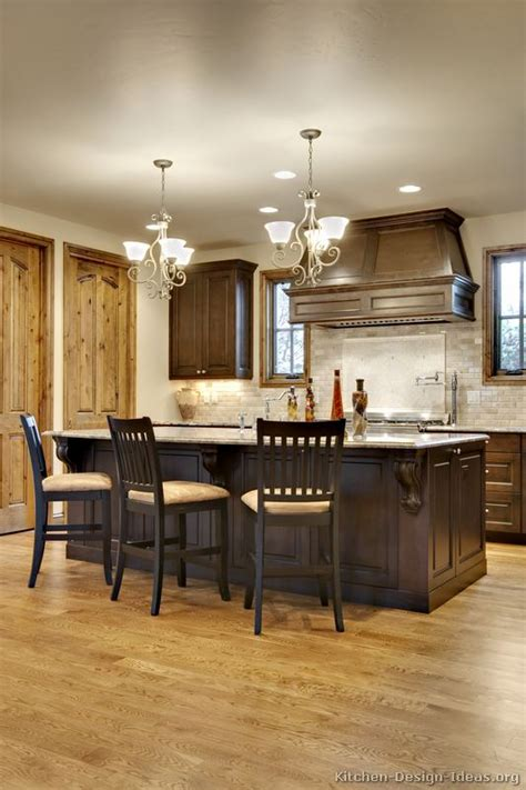 pictures  kitchens traditional dark wood walnut