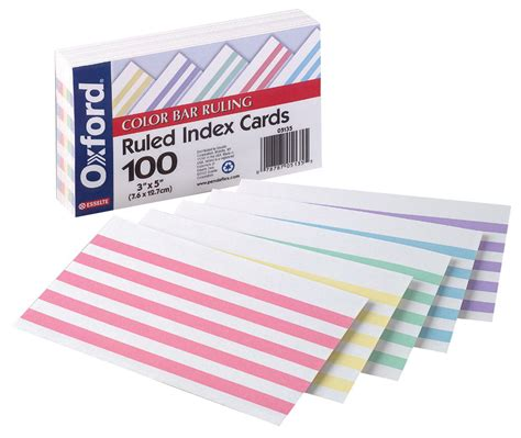 3x5 business cards esselte pendaflex oxford color bar ruled index card 3 x 5