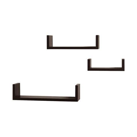 wickes  piece floating shelf set reviews allmodern
