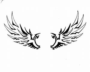 Simple Angel Wings Tattoo - ClipArt Best