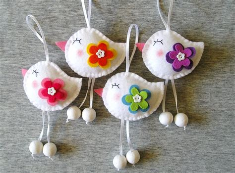 Spring Birds Felt Ornaments Cute Home Decor Funny Flowers. Corner Cabinet Dining Room. Beach Home Decor. How To Decorate Console Table. Room Store Austin. Design My Own Room. Room Partitions Ikea. Wooden Room Dividers. Cottage Living Rooms