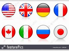 G8 Member Country Flags Illustration