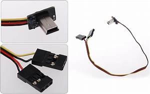 Mini Usb 90 Degree To Av Video 5v Dc Power Charge Bec