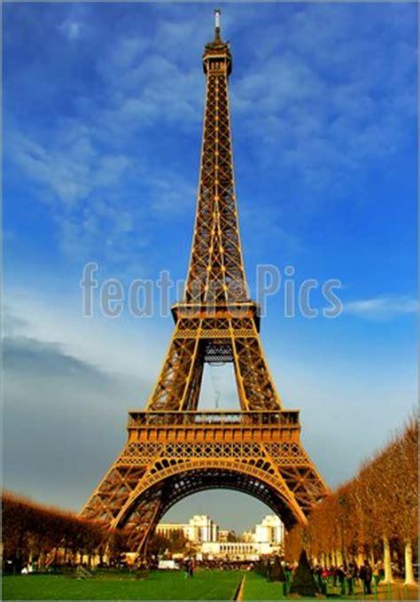eiffel tower  daylight paris stock picture
