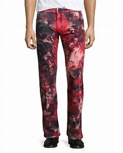 Lyst - Robinu0026#39;s jean Tie-dye Studded Pocket Denim Jeans in Red for Men