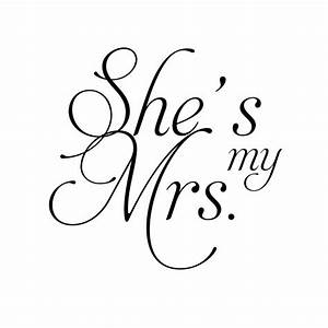Print - Fancy Font Free Printable Mr. and Mrs. Wedding Signs