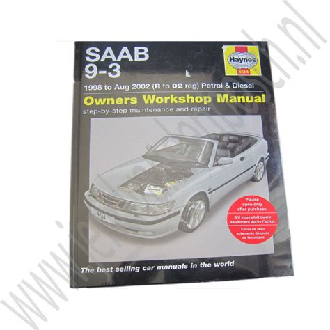 what is the best auto repair manual 1998 lotus esprit on board diagnostic system j d van den bosch haynes werkplaatshandboek saab 9 3 versie 1 bouwjaren 1998 2002 ond nr