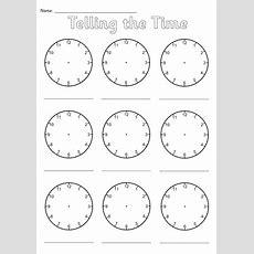 Blank Clocks Worksheet By Simonh  Teaching Resources Tes