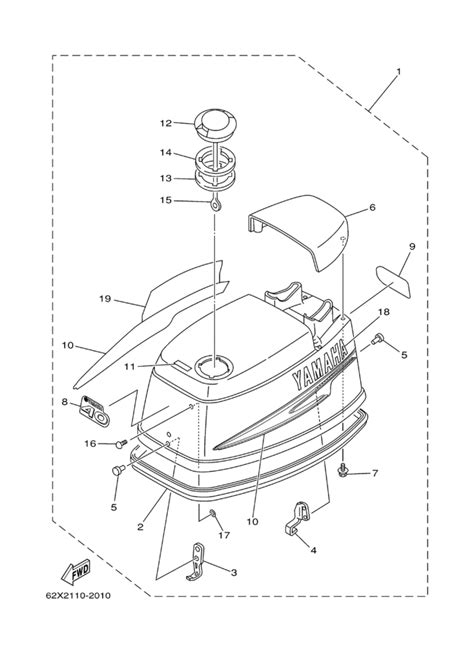 Yamaha Top Cowling Parts For Tlrc Outboard Motor