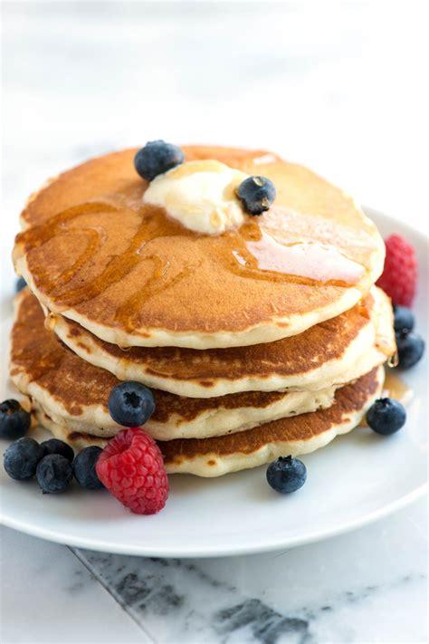 pancake recipie light and fluffy pancakes recipe dishmaps