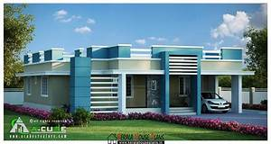Modern Single Storied Kerala Home Plan 4Bhk