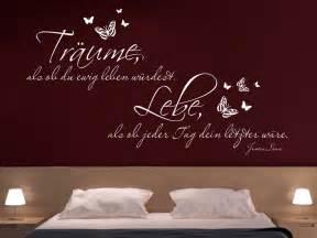 schlafzimmer wand grau traumhaftes wandtattoo träume als ob du wandtattoo net