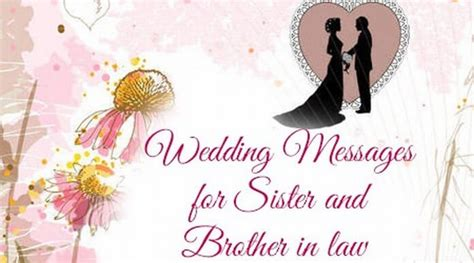 wedding messages  sister  brother  law