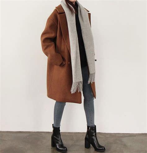 Coat Rust Winter Wool Oversized Grey