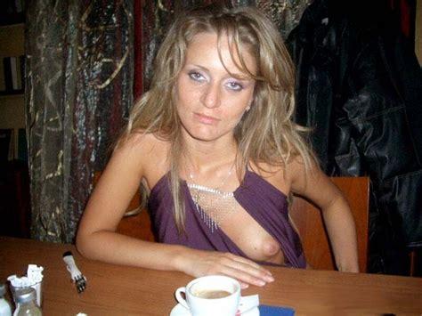 Free Milf Porn Pics Milf Shows One Boob Drunk