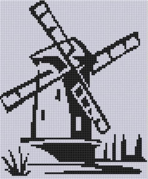 dutch windmill  motherbeedesigns embroidery pattern